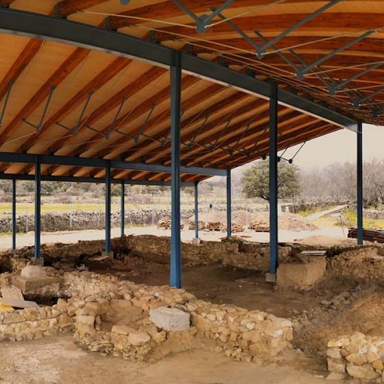 Restauración de patrimonio cubierta yacimiento El Beneficio